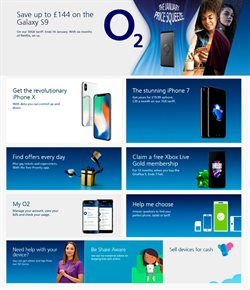 IPhone offers in the O2 catalogue in Aberdeen