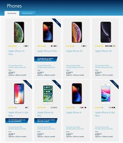 IPhone X offers in the O2 catalogue in London