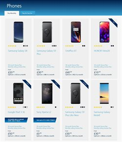 Samsung Galaxy offers in the O2 catalogue in London