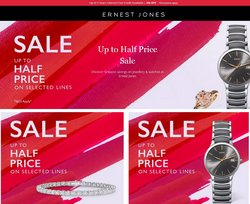 Clothes, Shoes & Accessories offers in the Ernest Jones catalogue ( Published today)