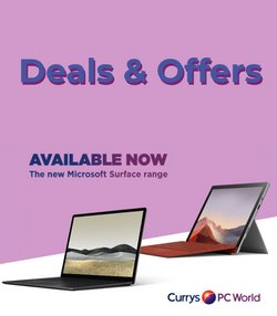 Electronics offers in the Currys PC World catalogue in St Helens ( 8 days left )