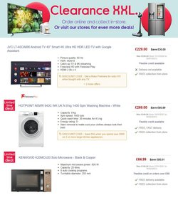 Offers of Washing machine in Currys PC World