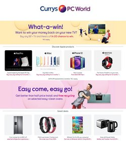Currys PC World offers in the Currys PC World catalogue ( 6 days left)