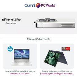 Electronics offers in the Currys PC World catalogue ( 8 days left)