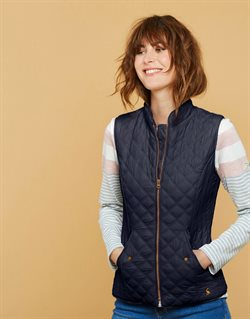 Women's waistcoat offers in the Joules catalogue in London