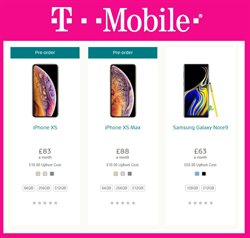 Samsung Galaxy offers in the T-Mobile catalogue in London