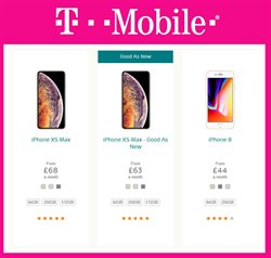 IPhone 8 offers in the T-Mobile catalogue in London
