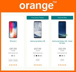 IPhone offers in the Orange catalogue in London