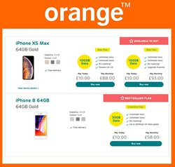 IPhone 8 offers in the Orange catalogue in London