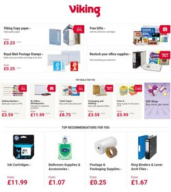 Books & Stationery offers in the Viking Direct catalogue ( Expires today)
