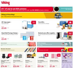 Books & Stationery offers in the Viking Direct catalogue ( Published today)