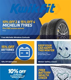 Cars, Motorcycles & Spares offers in the Kwik Fit catalogue in Manchester ( 4 days left )