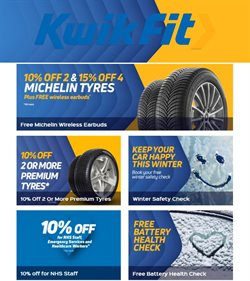 Cars, Motorcycles & Spares offers in the Kwik Fit catalogue ( 9 days left )