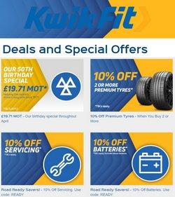 Cars, Motorcycles & Spares offers in the Kwik Fit catalogue in London ( 3 days left )