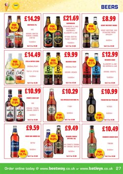 Alcoholic beverages offers in the Bestway catalogue in London