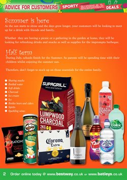 Spirits offers in the Bestway catalogue in London