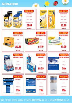 Pens offers in the Bestway catalogue in London