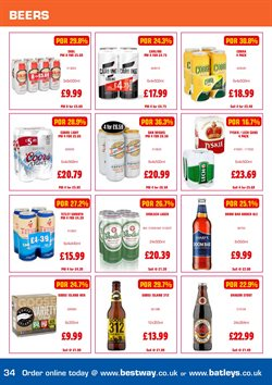 Beer offers in the Bestway catalogue in Leicester