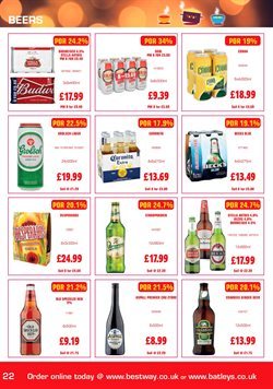 Beer offers in the Bestway catalogue in Widnes