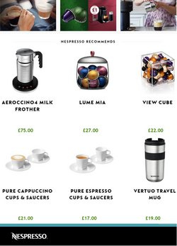 Nespresso offers in the Nespresso catalogue ( 8 days left)