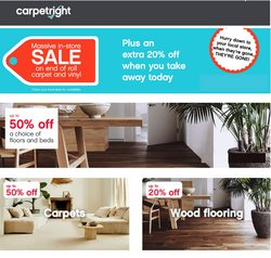 Home & Furniture offers in the Carpetright catalogue ( Expires tomorrow)