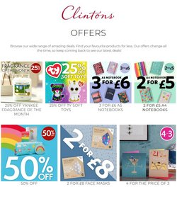 Books & Stationery offers in the Clintons catalogue in Newport ( 8 days left )