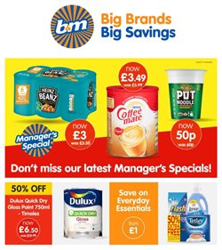 B&M Stores catalogue ( 1 day ago )
