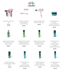 Pharmacy, Perfume & Beauty offers in the Nicky Clarke catalogue ( More than a month)