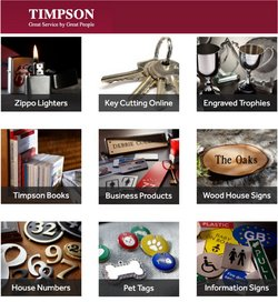 Timpson offers in the Timpson catalogue ( Expires today)
