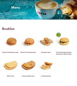 Restaurants offers in the Costa Coffee catalogue ( More than a month)