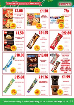 Pizza offers in the Batleys catalogue in London
