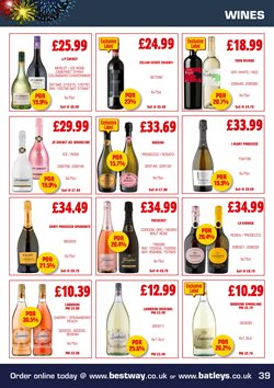 Cava offers in the Batleys catalogue in London