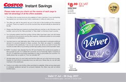 Velvet offers in the Costco catalogue in London