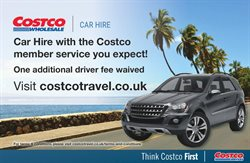 Car hire offers in the Costco catalogue in Widnes