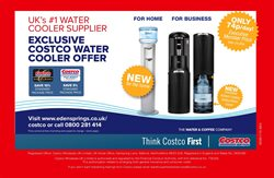 Water bottle offers in the Costco catalogue in London