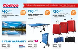 Table offers in the Costco catalogue in London