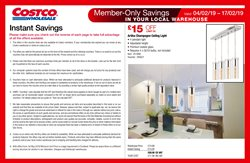 Lighting offers in the Costco catalogue in Coventry