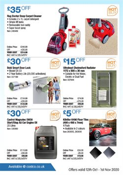 Offers of Hot water in Costco