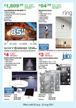Sony offers in the Costco catalogue ( Published today)