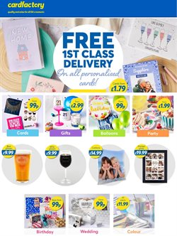 Card Factory catalogue ( Expires today )