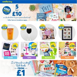 Books & Stationery offers in the Card Factory catalogue in Newport ( 14 days left )