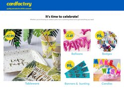 Card Factory offers in the Card Factory catalogue ( Published today)