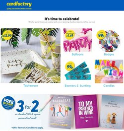 Books & Stationery offers in the Card Factory catalogue ( 1 day ago)