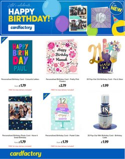 Books & Stationery offers in the Card Factory catalogue ( 9 days left)