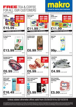 Tea offers in the Makro catalogue in London
