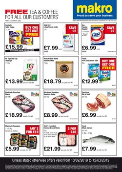 Ready meals offers in the Makro catalogue in Leicester