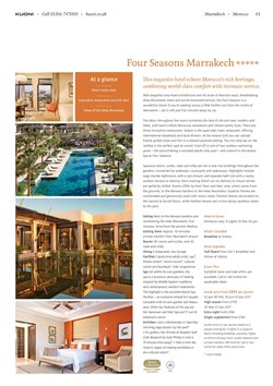 Kuoni offers in the London catalogue