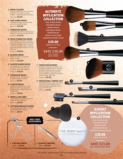 Brushes offers in the The Body Shop catalogue in London