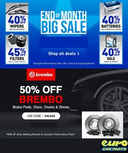 Cars, Motorcycles & Spares offers in the Euro Car Parts catalogue ( 2 days left )