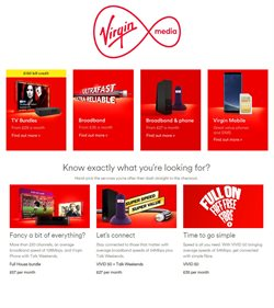 Virgin Media offers in the Birmingham catalogue